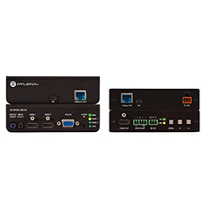Atlona® HDBaseT TX/RX with Three-Input Switcher and HD Scaler