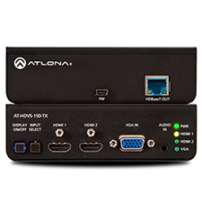 Atlona® Conferencing Switcher for HDMI and VGA with Ethernet-Enabled HDBaseT Output – 3x1