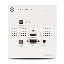 Atlona® Conferencing Wallplate Switcher for HDMI and VGA with HDBaseT Output - 2x1