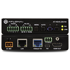 Atlona® Conferencing Ethernet-Enabled HDBaseT Scaler with HDMI and Analog Audio Outputs