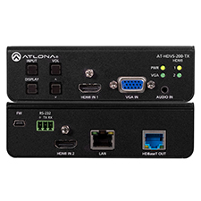 Atlona® Conferencing Switcher for HDMI and VGA with Ethernet-Enabled HDBaseT Output - 3x1