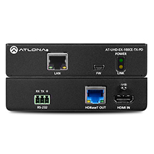 Atlona® 4K/UHD Remote Powered HDMI HDBaseT Transmitter with Ethernet, Control, and PoE
