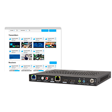 Binary™ 900 Series 4K Media over IP Transmitter with Audio Downmixing