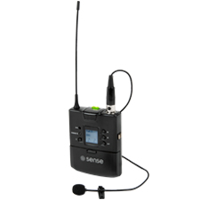 Sense™ UHF Wireless Microphone Transmitter - Bodypack Lavalier