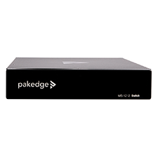 Pakedge® MS Series L3 Managed Gigabit Switch with 10G SFP+, Full PoE+ | 12 PoE + 2 Rear Ports