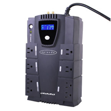 Episode® Surge Stand Alone 450W UPS with RJ45/RJ11 and RG6 - 8 Outlets