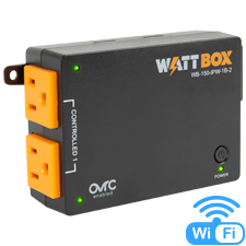 WattBox® 150 Series IP Power Controller (Ultra Compact) | 1 Controlled Bank, 2 Outlets (Wi-Fi or Wired)