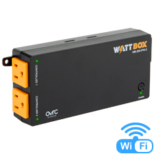 WattBox® 250-Series Wi-Fi Surge Protector  | 2 Individually Controlled Outlets (Wi-Fi or Wired)