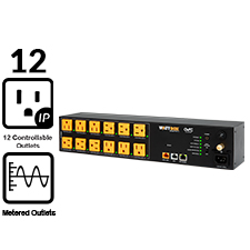 WattBox® 800 Series IP Power Conditioner | 12 Individually Controlled & Metered Outlets