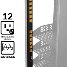 WattBox® IP Vertical Power Strip & Conditioner w/ Individually Controlled & Metered Outlets