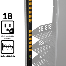 WattBox® IP Vertical Power Strip & Conditioner | 18 Individually Controlled & Metered Outlets