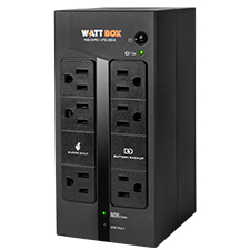 WattBox® Standby UPS & Battery Pack (Compact) | 6 Outlets, 350VA