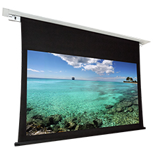 Dragonfly™ Recessed Motorized Matte White Non Tab Tension Projection Screen (16:9) - 100'