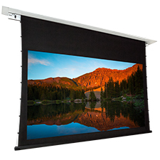 Dragonfly™ Recessed Motorized Tab Tension Ultra AcoustiWeave™ Projection Screen - 130' Screen Size