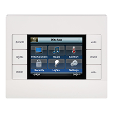 URC® KP-2 In-Wall Keypad with Touchscreen