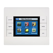 URC® KP-4000C Two-Way In-Wall Network Touchscreen Keypad