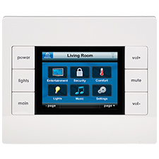 URC TKP-2000 3.5' Graphical In-Wall Color Touchscreen/Keypad
