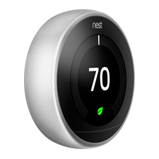 Nest Learning Thermostat - 3rd Gen | Stainless Steel