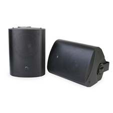 Episode® All Weather Series Surface Mount Speakers with 5-1/4' Woofer (Pair) - Black