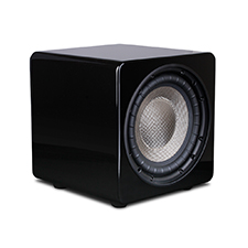 Episode® Evolution Series 8' Sealed Subwoofer with 260W Amplifier - Gloss Black