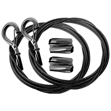 Gripple Express Range Black Line Wire with Snap-On Hook 2-Pack | 10ft