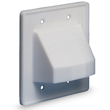 Arlington™ Reversible Low-Voltage Double Gang Entrance Plate - White