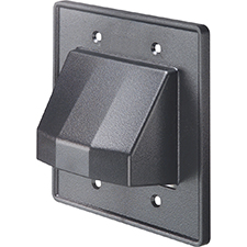 Arlington™ Reversible Low-Voltage Double Gang Entrance Plate - Black