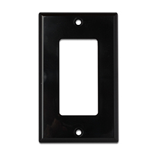 Wirepath™ Decorative Single Gang Wall Plate - Black