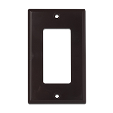 Wirepath™ Decorative Single Gang Wall Plate - Brown