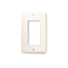 Wirepath™ Decorative Single Gang Wall Plate - Light Almond