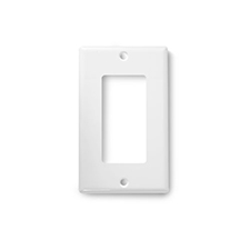 Wirepath™ Decorative Single Gang Wall Plate - White