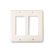 Wirepath™ Decorative Double Gang Wall Plate - Light Almond