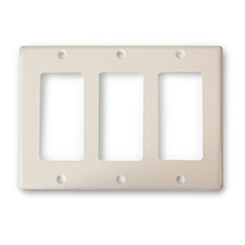 Wirepath™ Decorative Triple Gang Wall Plate - Almond