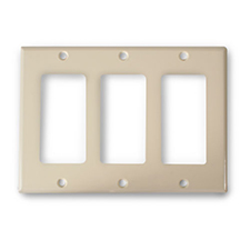 Wirepath™ Decorative Triple Gang Wall Plate - Ivory
