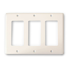 Wirepath™ Decorative Triple Gang Wall Plate - Light Almond