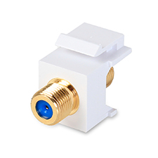Wirepath™ Gold-plated 3 GHz Bandwidth F-Connector Keystone Insert
