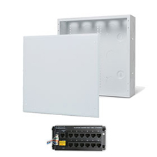 Wirepath™ 14' Enclosure Kit with Flush Metal Door, 1x12 RJ45 Telephone Module