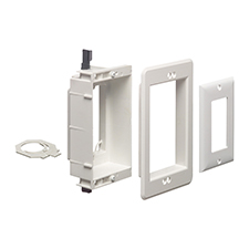 Arlington™ Recessed Single Gang Low-Voltage Mounting Bracket