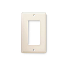 Wirepath™ Midi Decorative Single Gang Wall Plate - Almond