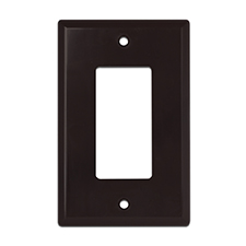 Wirepath™ Midi Decorative Single Gang Wall Plate - Brown