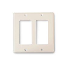 Wirepath™ Midi Decorative Double Gang Wall Plate - Almond