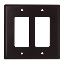 Wirepath™ Midi Decorative Double Gang Wall Plate - Brown