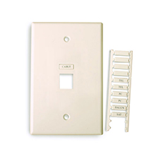 Wirepath™ Icon Midi Wall Plate with Name Inserts