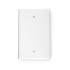 White Arlington CE1-WH Reversible Bulk Wire Wall Plate 1 Gang
