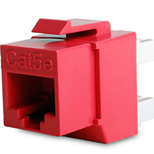 Wirepath™ Cat 5e RJ45 UTP Keystone Insert - 180 Degree (Red)