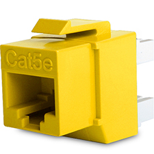 Wirepath™ Cat 5e UTP Keystone Insert - 180 Degree (Yellow)