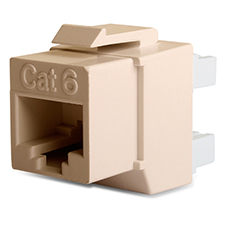 Wirepath™ Cat 6 RJ45 UTP Keystone Insert - 180 Degree (Almond)