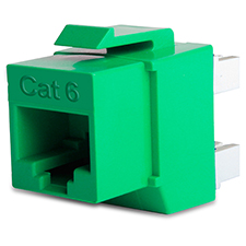 Wirepath™ Cat 6 RJ45 UTP Keystone Insert - 180 Degree (Green)