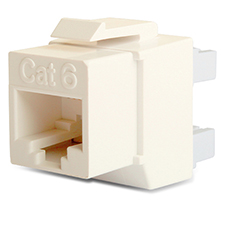 Wirepath™ Cat 6 RJ45 UTP Keystone Insert - 180 Degree (Ivory)