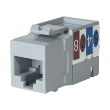 Wirepath™ Cat 6 RJ45 UTP Keystone Insert - 90 Degree (Gray)